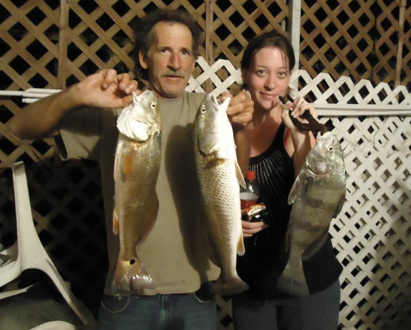 Brian with his daughter, Maggie, after recent fishing trip together